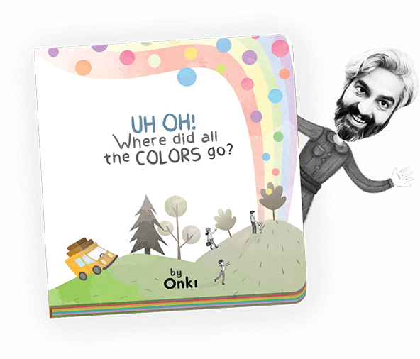 Book cover of Uh Oh! Where did all the colors go?
